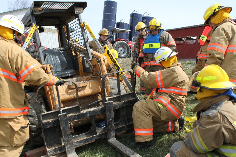 Photo of an ag safety rescue training session.